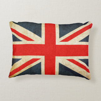 Vintage Union Jack British Flag Accent Pillow