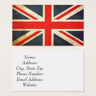 Vintage Union Jack British Flag Business Card