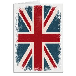 Vintage Union Jack British Flag Card