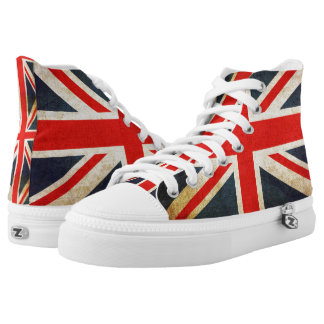 Vintage Union Jack British Flag High-Top Sneakers