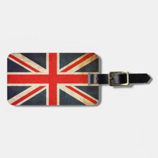 Vintage Union Jack British Flag Luggage Tag