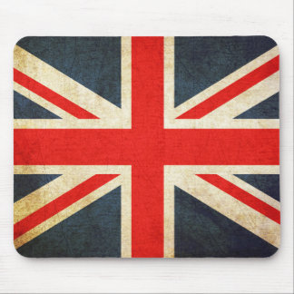 Vintage Union Jack British Flag Mouse Pad