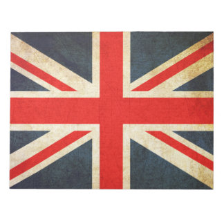 Vintage Union Jack British Flag Notepad