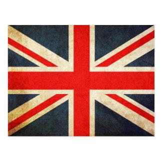 Vintage Union Jack British Flag Postcard