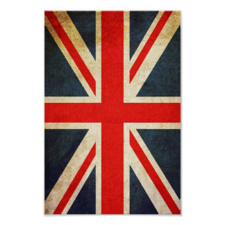 Vintage Union Jack British Flag Poster