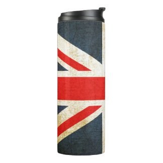 Vintage Union Jack British Flag Thermal Tumbler