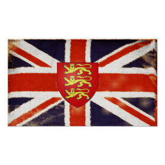 Vintage Union Jack Coat Of Arms Poster