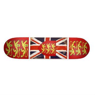 Vintage Union Jack Coat of Arms Skate Deck