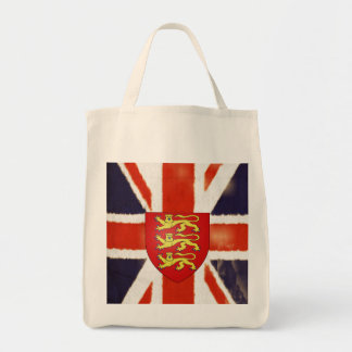 Vintage Union Jack Coat of Arms Tote Bag