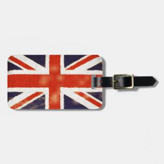 Vintage  Union Jack Custom Luggage Tag