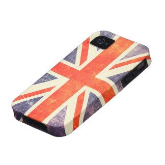 Vintage Union Jack flag iPhone 4 Cases