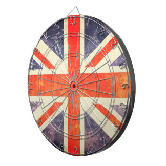 Vintage Union Jack flag Dartboard