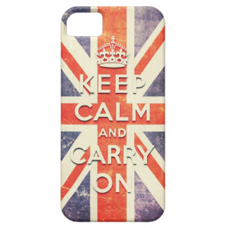Vintage Union Jack flag keep calm and carry on Case For The iPhone 5