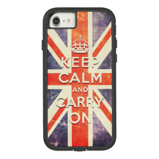 Vintage Union Jack flag keep calm and carry on Case-Mate Tough Extreme iPhone 7 Case