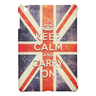 Vintage Union Jack flag keep calm and carry on iPad Mini Covers