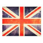 Vintage Union Jack flag Postcard