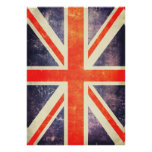 Vintage union Jack flag Poster