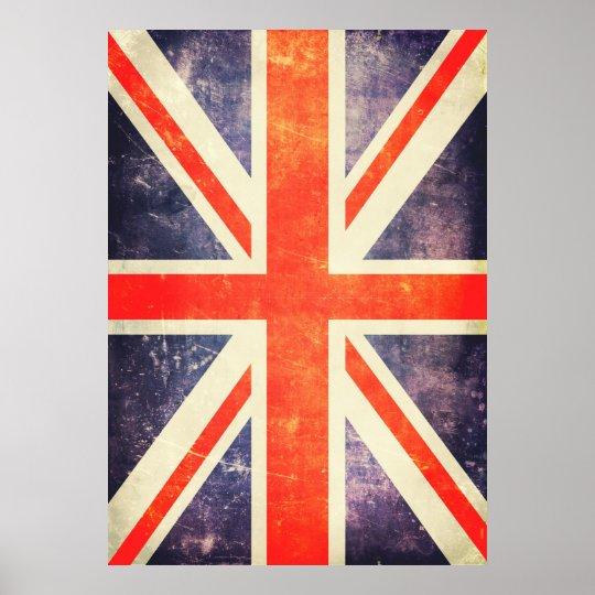 Vintage Union Jack Flag Poster Zazzle Com Au