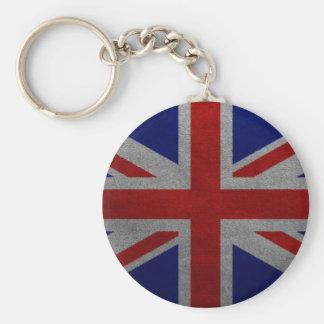 Vintage Union Jack United Kingdom British Flag Keychain