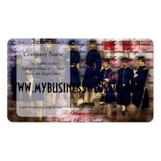 vintage Union Soldiers Union Forever Business Card Templates