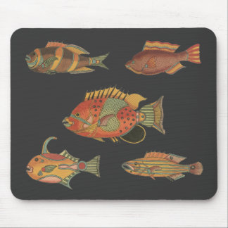 Vintage Unique Collection of Fish Mousepad