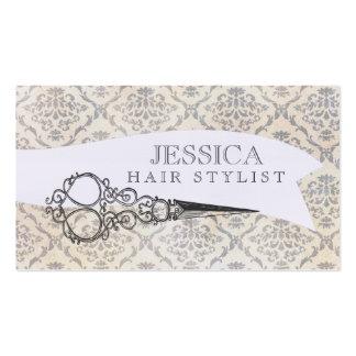 Vintage Unique Professional Scissors Hair Stylist Business Card Template
