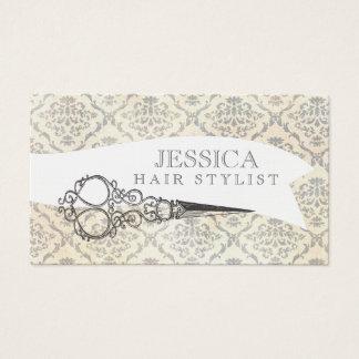 Vintage Unique Professional Scissors Hair Stylist Business Card