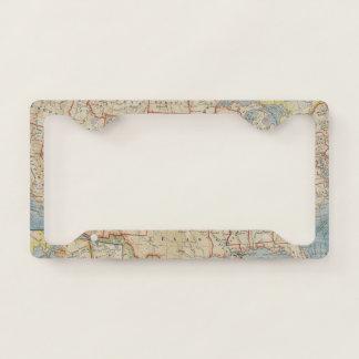 Vintage United State Map Licence Plate Frame