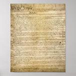 Vintage United States Constitution Print
