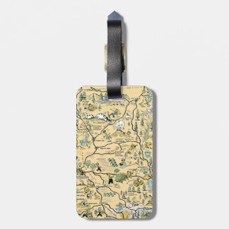 Vintage Upper Northern California Map Tags For Bags