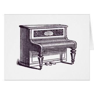 Vintage Upright Piano Card