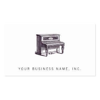 Vintage Upright Piano Pack Of Standard Business Cards