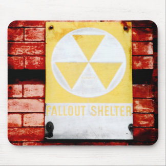 Vintage Urban Fallout Shelter Mouse Pad