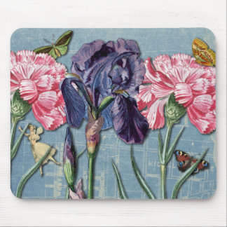 Vintage Urban Garden Collage Mousepad