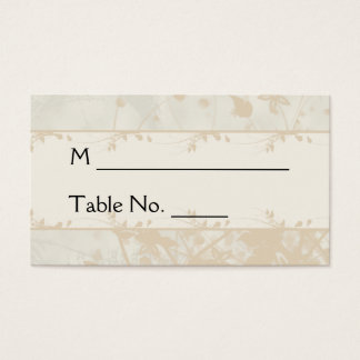 Vintage Urban in Ivory and Charcoal Place Cards