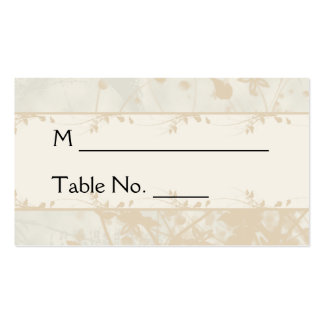 Vintage Urban in Ivory and Charcoal Place Cards Pack Of Standard Business Cards