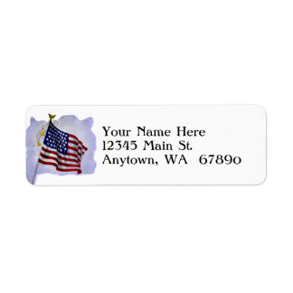 Vintage US Flag in Patriotic Custom Address Label