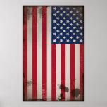 Vintage US Flag Poster