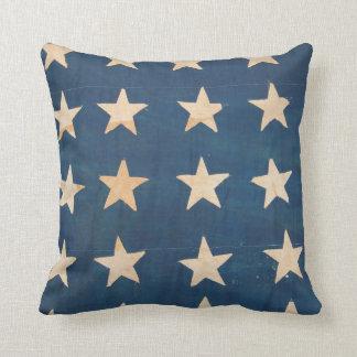 Vintage US Flag Stars Cushion