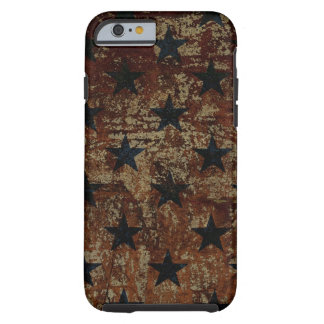 Vintage US flag stars on rusted background Tough iPhone 6 Case