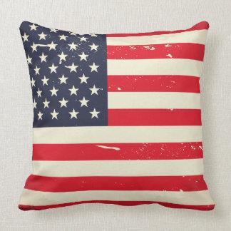 Vintage US Flag Throw Pillow