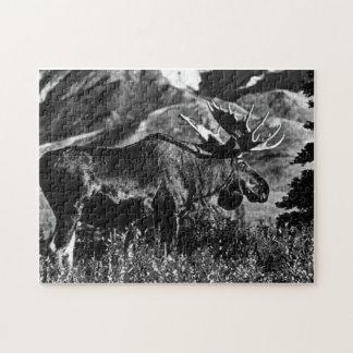 Vintage USA Alaska bull moose 1970 Jigsaw Puzzle