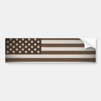 Vintage USA Flag Bumper Stickers