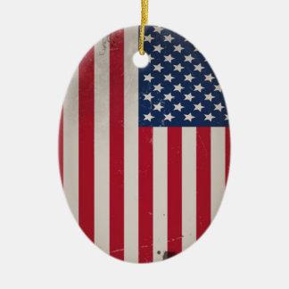 Vintage USA Flag Ornament