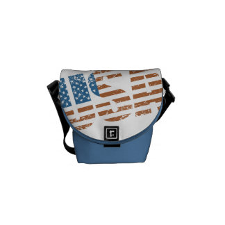 Vintage USA Letters with The American Flag Courier Bag