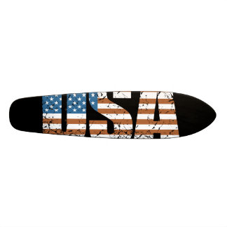 Vintage USA Letters with The American Flag Skateboard Decks