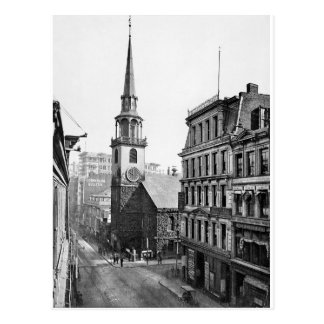 Vintage USA, Old South Meeting House, Boston Postcard