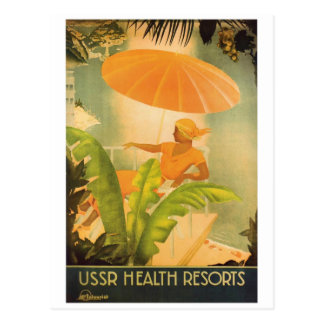 Vintage USSR Health Resort Postcard