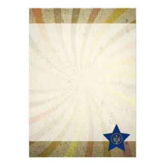 Vintage Utahn Flag Swirl 13 Cm X 18 Cm Invitation Card
