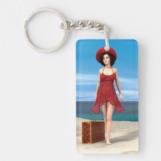 Vintage Vacation Keychains